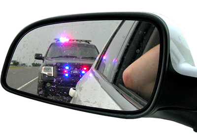 Side Mirror with Police