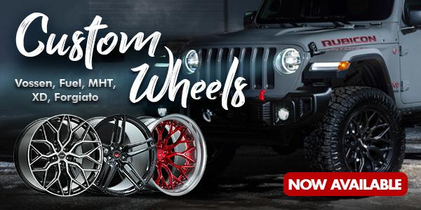 Custom Wheels now Available!